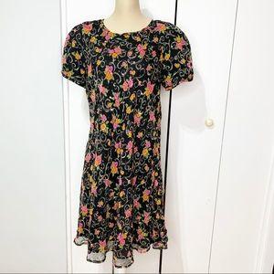 Karin Stevens floral Sheer dress Sz 16, sequins.